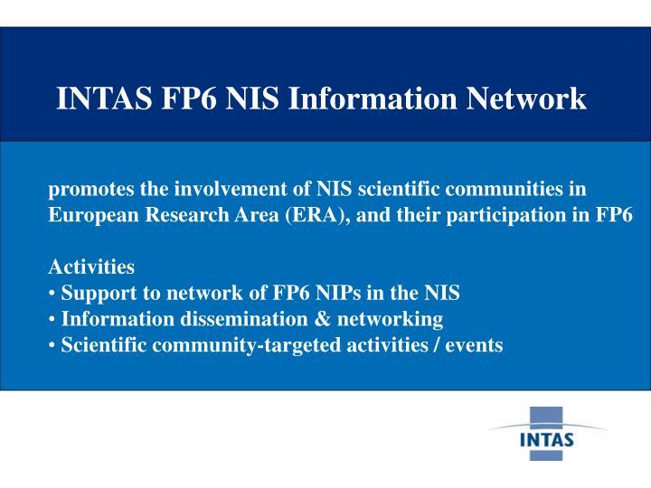 INTAS FP6 NIS Information Network