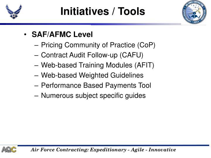 Initiatives / Tools