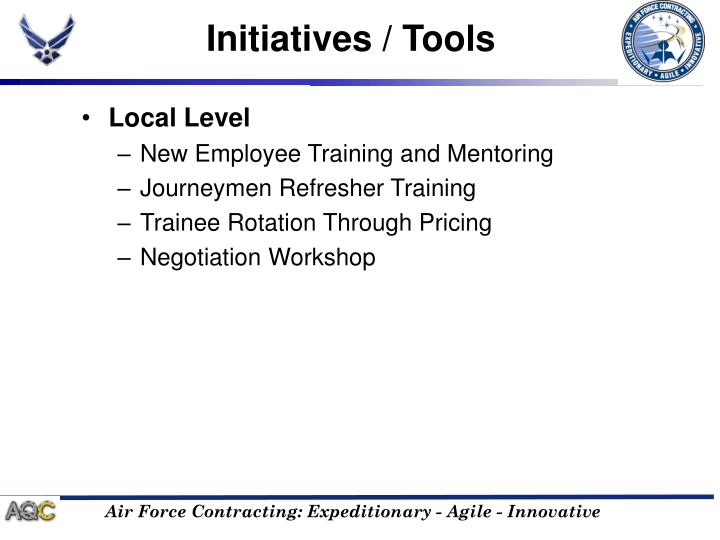 Initiatives / Tools