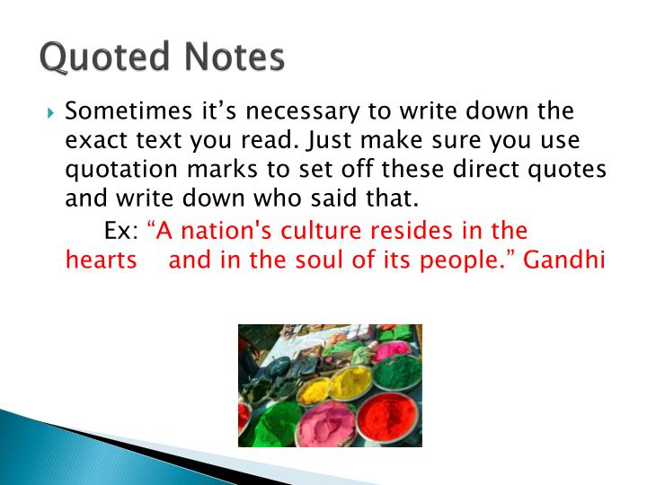 Quoted Notes