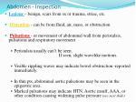 abdomen inspection