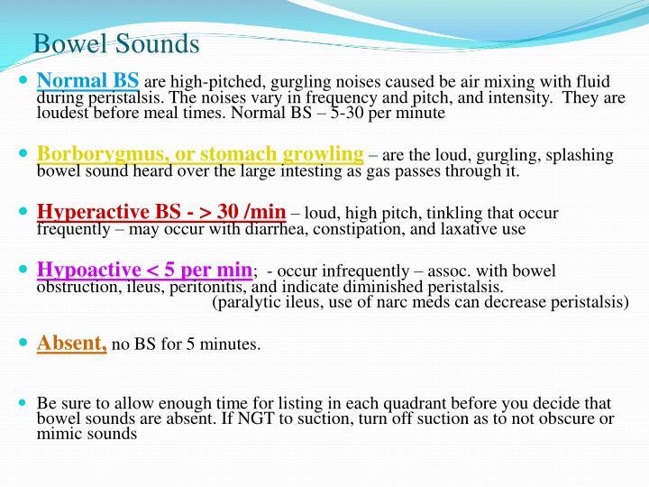 Bowel Sounds