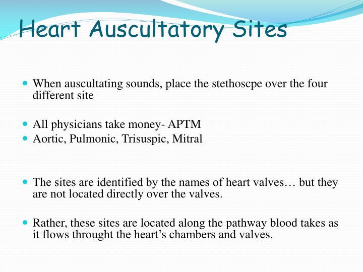 Heart Auscultatory Sites