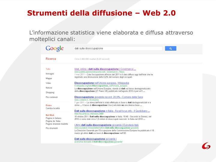 Strumenti della diffusione – Web 2.0