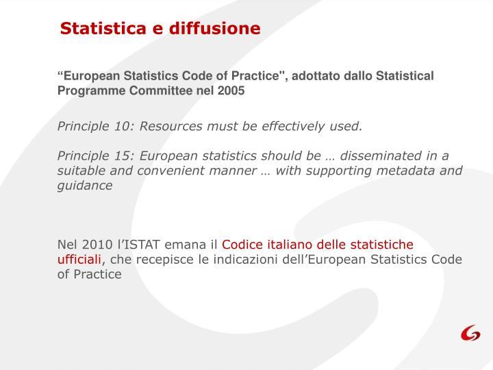 Statistica e diffusione