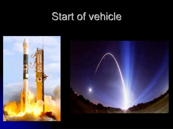 Start of vehicle