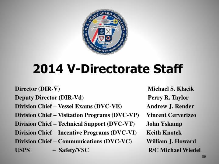 2014 V-Directorate Staff