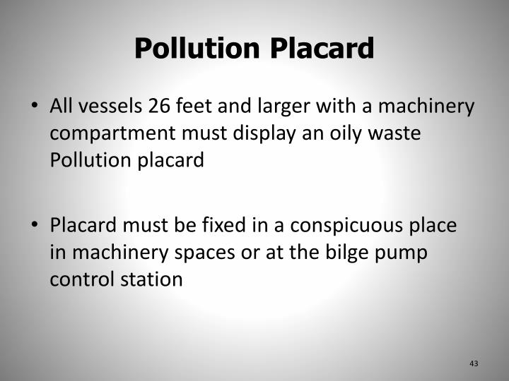 Pollution Placard