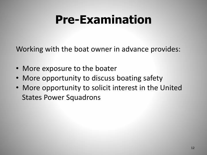 Pre-Examination
