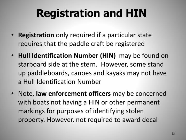 Registration and HIN