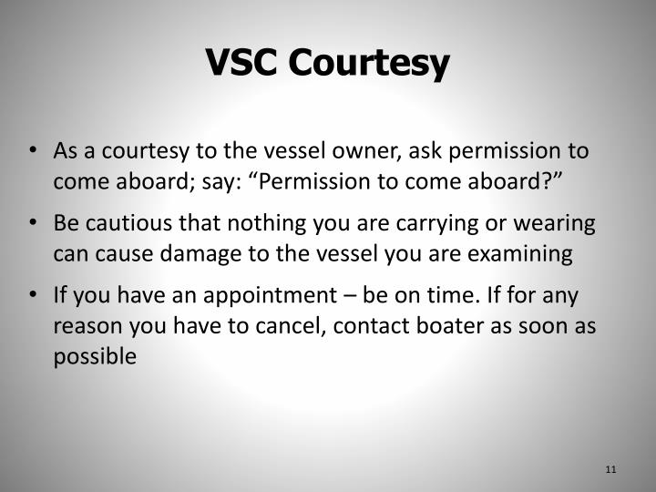 VSC Courtesy