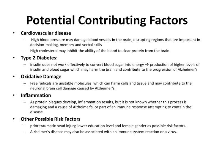 Potential Contributing Factors