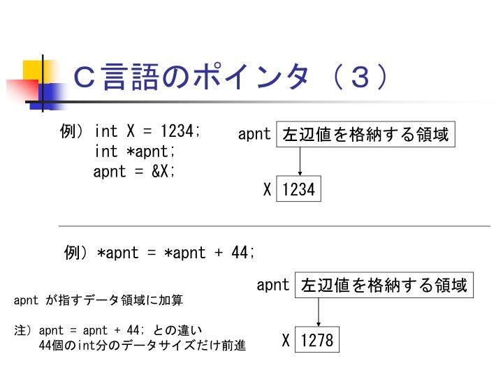C言語のポインタ(3)