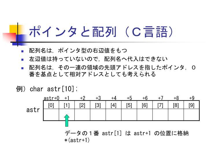 ポインタと配列(C言語)