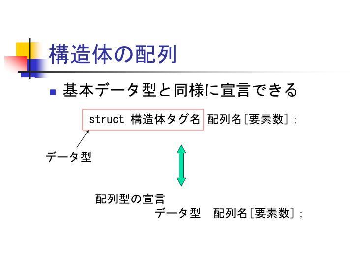 構造体の配列