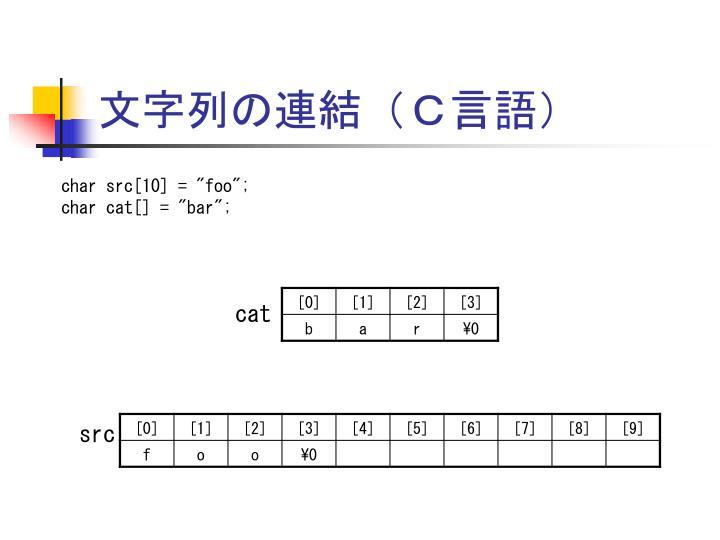 文字列の連結(C言語)