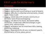 fast scale for alzheimer s disease