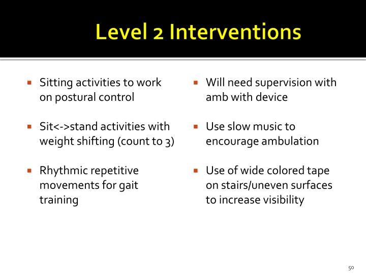 Level 2 Interventions