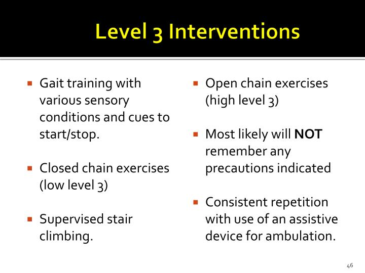 Level 3 Interventions