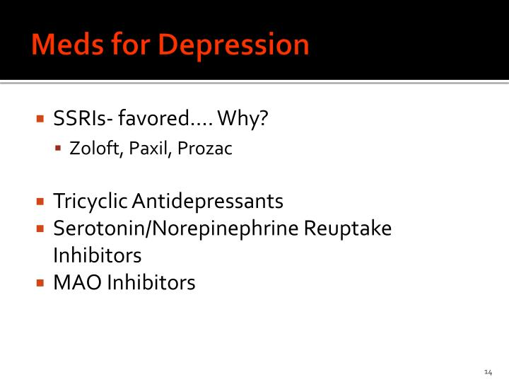 Meds for Depression