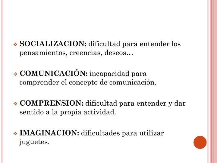 SOCIALIZACION:
