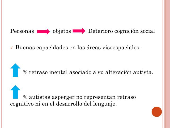 Personas            objetos           Deterioro cognición social