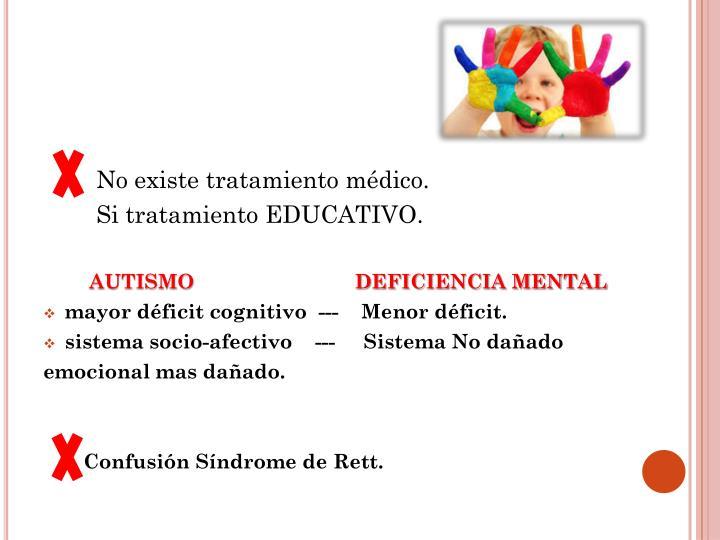 No existe tratamiento médico.