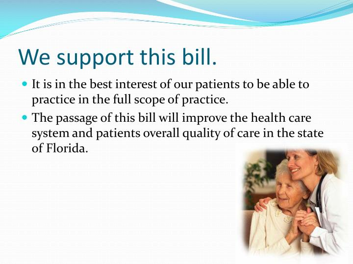 We support this bill.