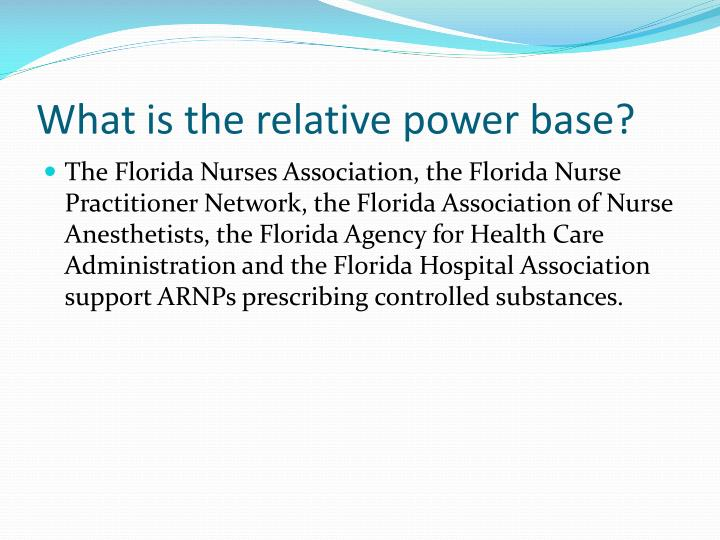 What is the relative power base?
