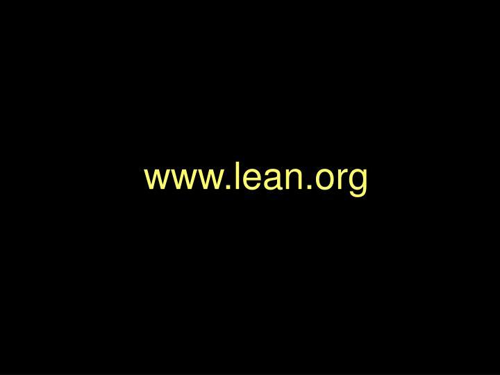 www.lean.org