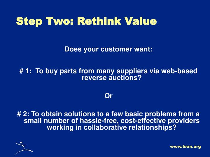 Step Two: Rethink Value