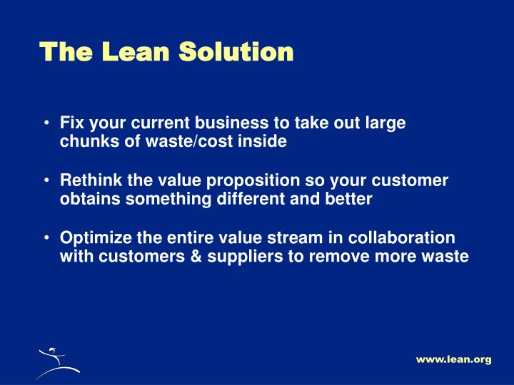 The Lean Solution