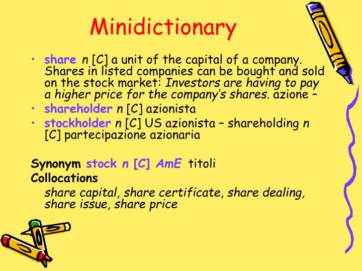 Minidictionary