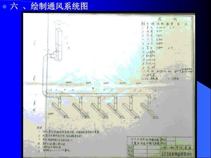 六  、绘制通风系统图