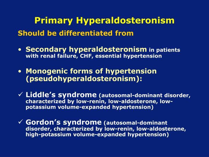 Primary Hyperaldosteronism