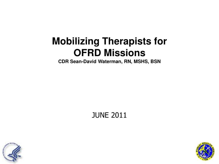 Mobilizing Therapists for