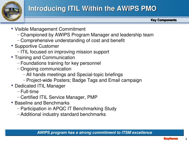 Introducing itil within the awips pmo
