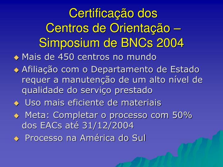 Certificação dos