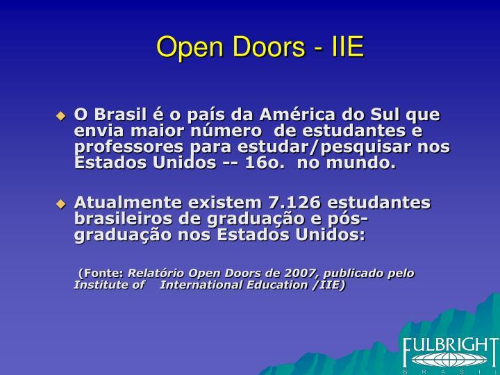 Open Doors - IIE