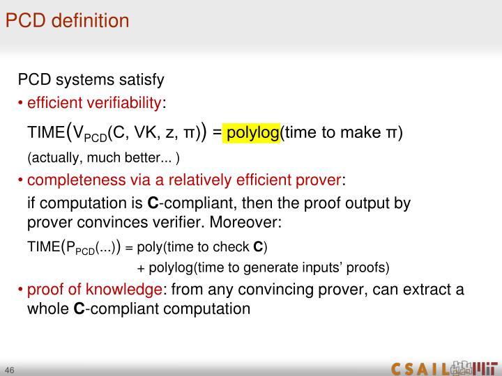 PCD definition