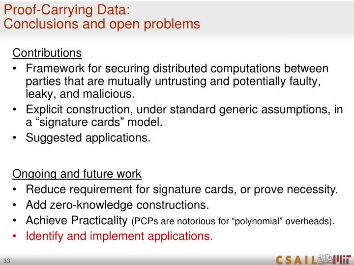 Proof-Carrying Data: