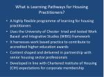 what is learning pathways for housing practitioners