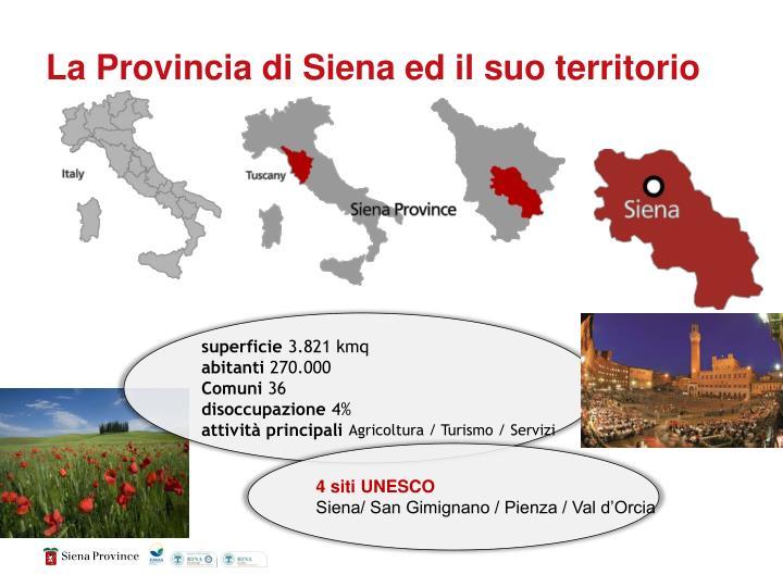La Provincia di Siena ed il suo territorio