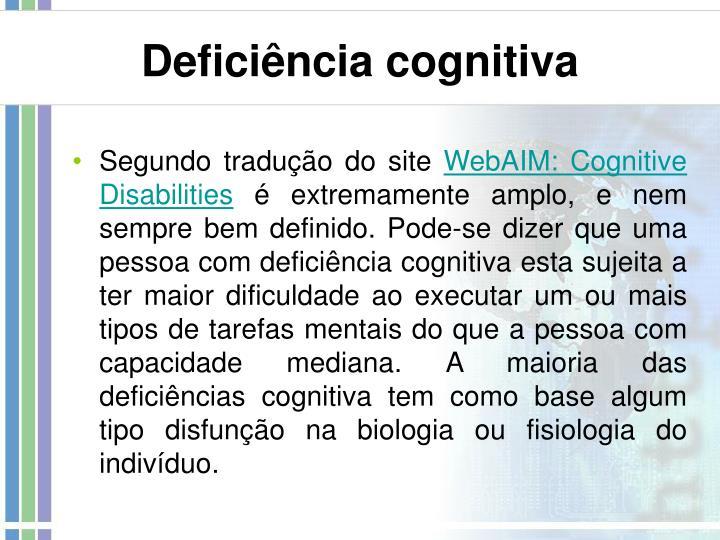 Deficiência cognitiva