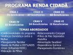 programa renda cidad