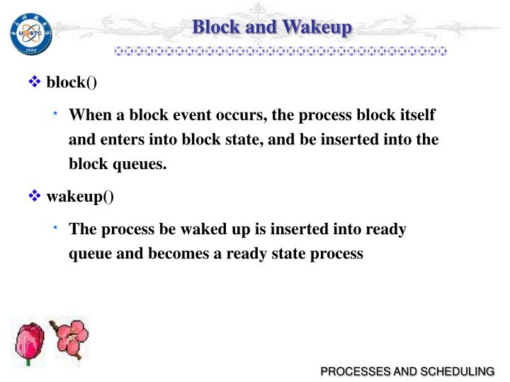 Block and Wakeup