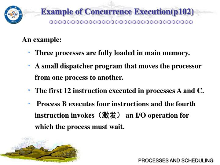 Example of Concurrence Execution(p102)
