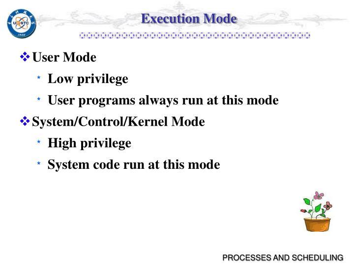 Execution Mode