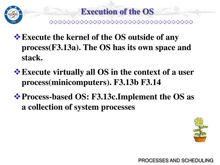 Execution of the OS
