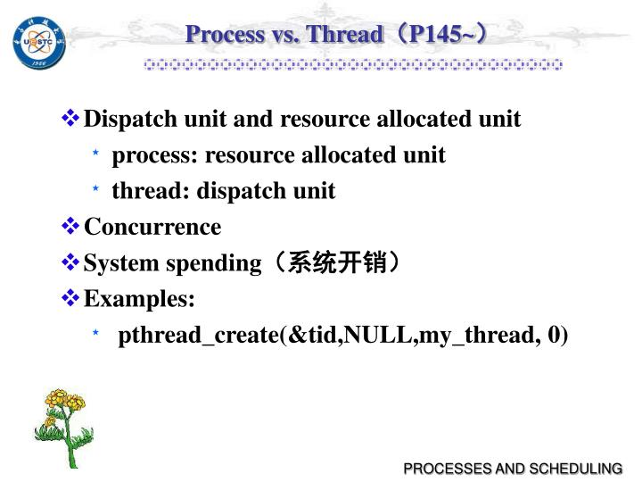 Process vs. Thread